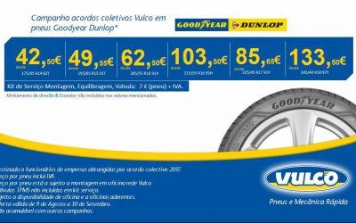 Campanha acordos colectivos Vulco em pneus Goodyear Dunlop