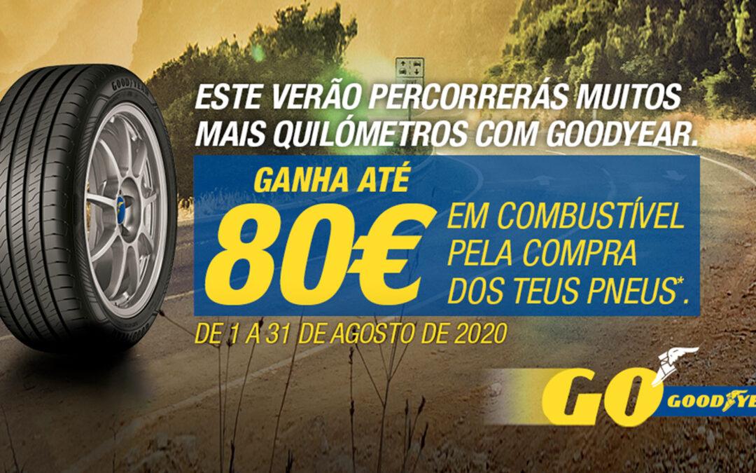 Ganha até 80€ em Combustível | Na compra dos teus pneus GOODYEAR